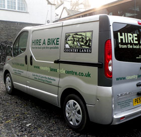 Bike Hire Delivery Van